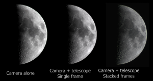 Comparison of Moon photos