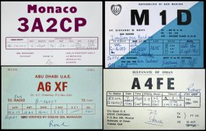 QSL cards Monaco Oman etc