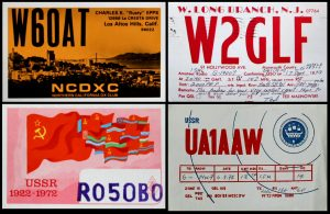 QSL cards USA USSR